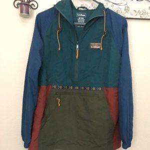 NEW LL Bean Colorblock Mountain Classic Anorak